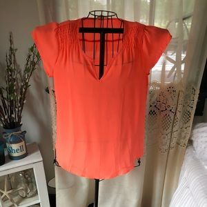 Mine coral flowy blouse